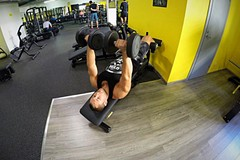 Decline dumbbell bench press
