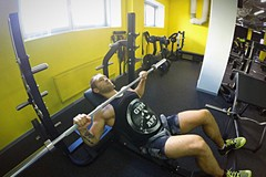Barbell incline bench press - medium grip